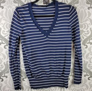 J Crew v-neck striped sweater